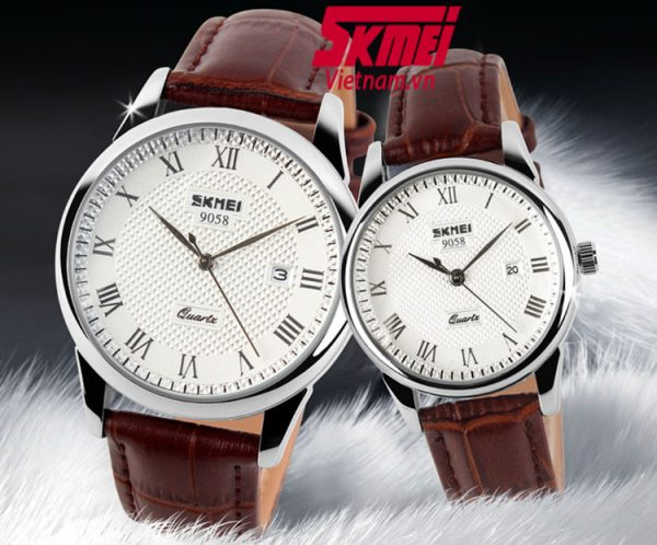 đồng hồ đôi skmei 9058