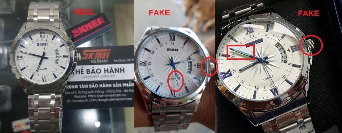 đồng hồ skmei 9096 chính hãng và fake