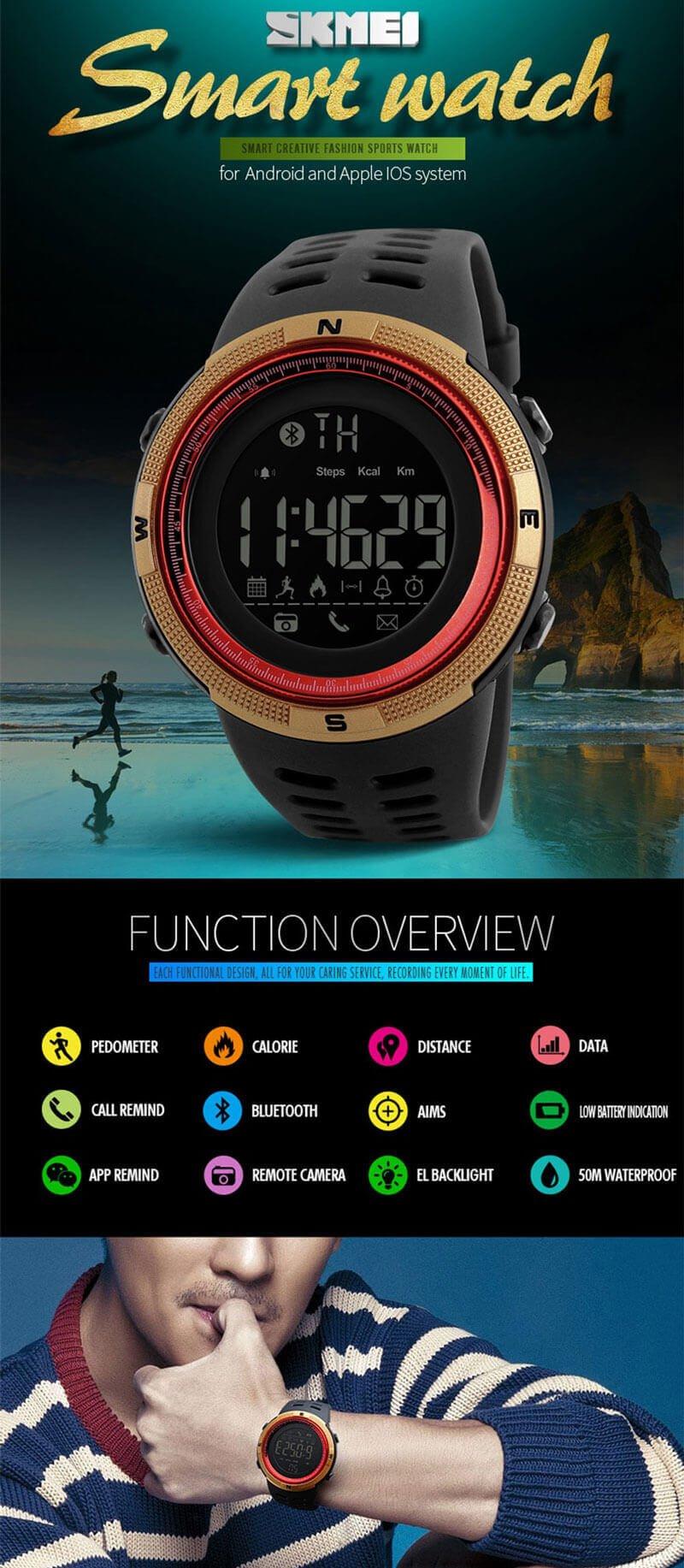 đồng hồ skmei 1250 chính hãng