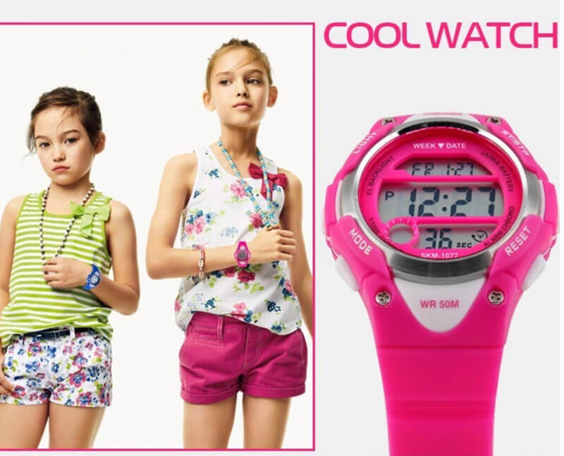 đồng hồ bé gái skmei 1077