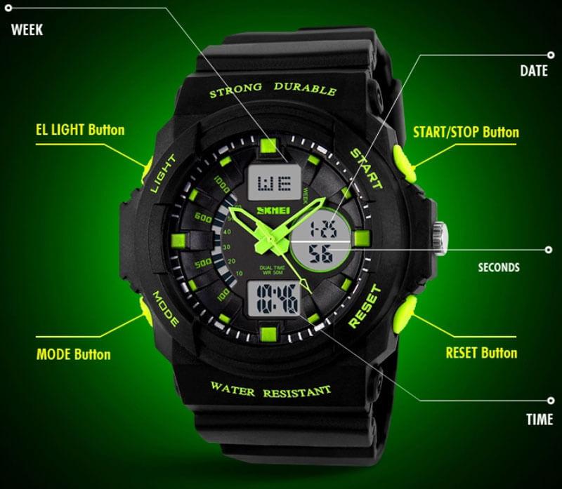 đồng hồ bé trai skmei 0955