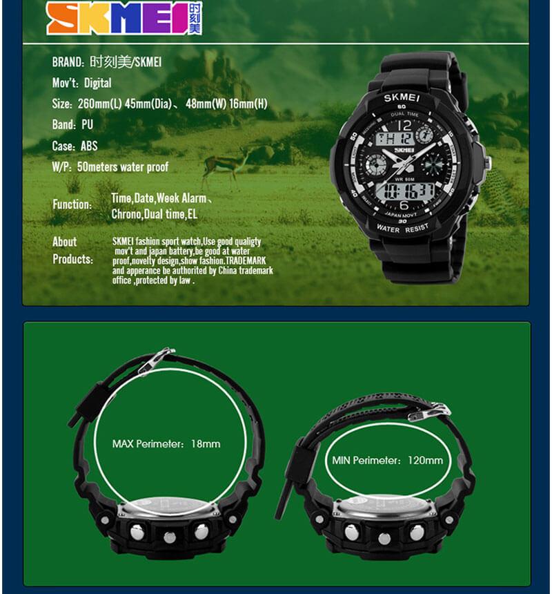 đồng hồ bé trai skmei 1060