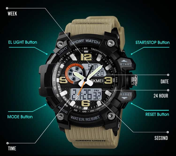 đồng hồ thể thao skmei 1436