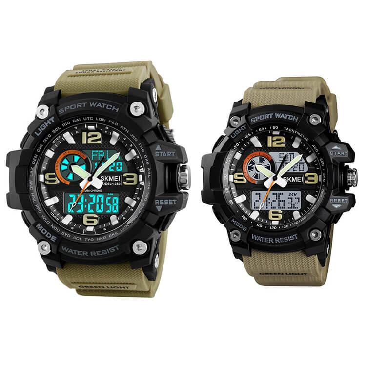 đồng hồ thể thao đôi skmei