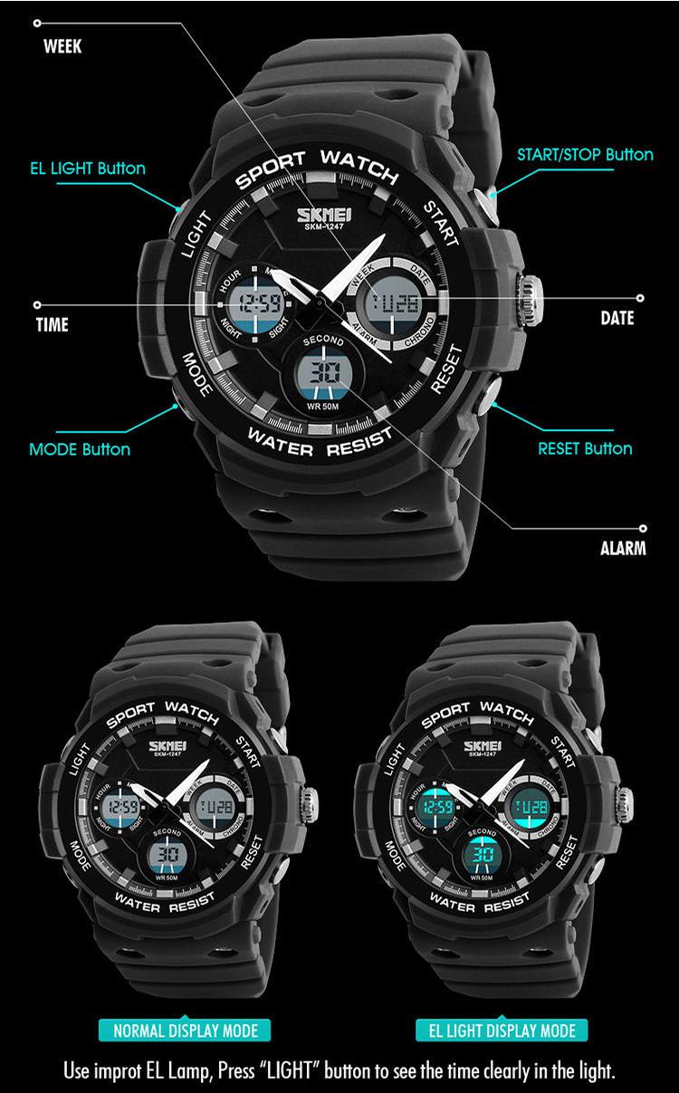 đồng hồ thể thao skmei 1247