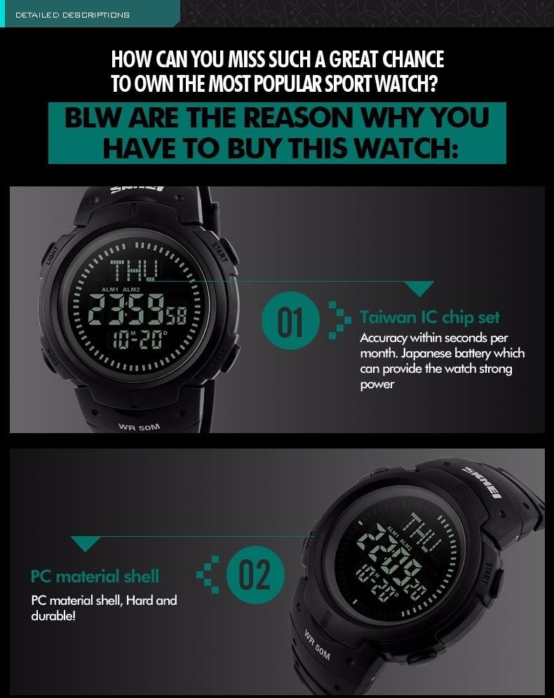 đồng hồ thể thao la bàn skmei 1231