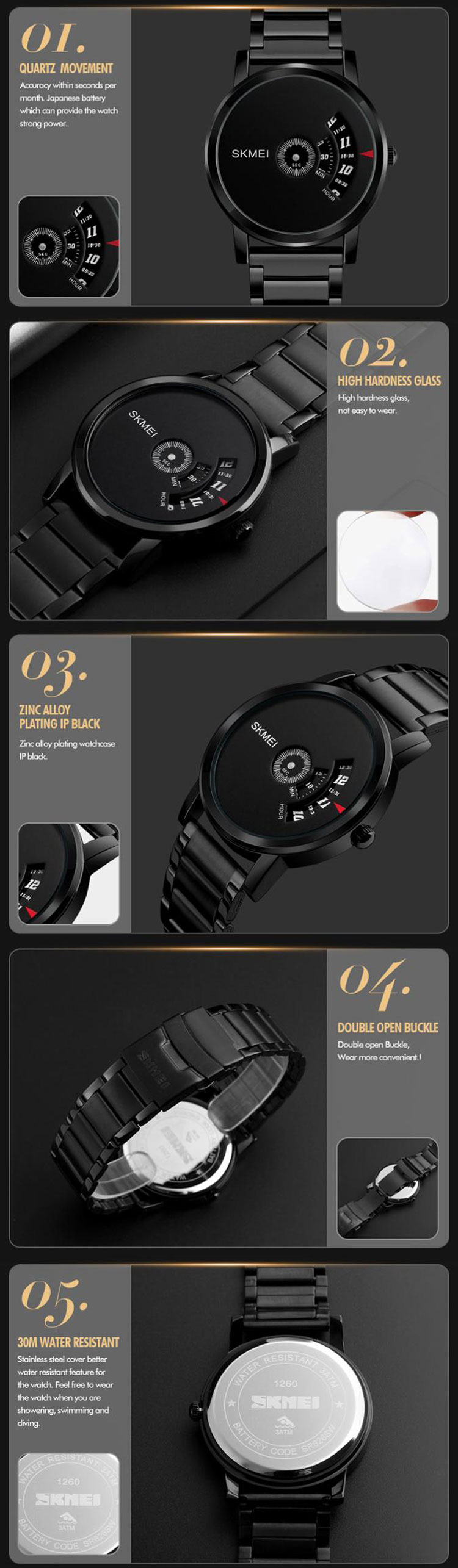 Đồng hồ skmei 1260
